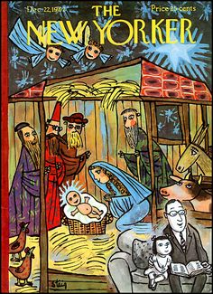 Christmas Story as portrayed on the December 1962 cover of The New Yorker. #vintage #1960s #Christmas