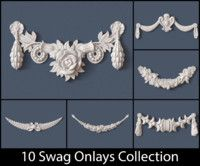 10 Swag Onlays Collection architectural architecture, available in OBJ, PDF, ready for animation and other projects Decorative Plaster, Plaster Art, Baroque Ornament, Thermocol Craft, Diy Furniture Repair, Pillar Design, Clay Wall Art, Maya, Christmas Wood Crafts