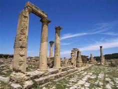roman ruins, cyrene, lybia