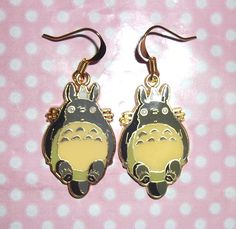 Kawaii Totoro gold or silver enamel charm earrings sold by Kawaii Store. Shop more products from Kawaii Store on Storenvy, the home of independent small businesses all over the world. Kawaii Jewelry, Candy Floss, Indie Brands, Totoro, Dangle Earrings, Dangles, Enamel, Charmed, Awesome