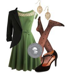 """""""With Only a Wink Dress in Peridot"""" by modcloth on Polyvore"""