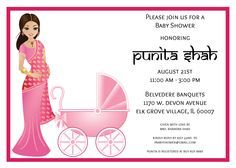 Image Result For Bangle Ceremony Invitation Indian Baby Showers Carriage Baby Shower Invitations Baby Shower Invitations