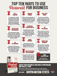 My new book on #Pinterest is finally out!  Here's an #infographic of ten top tips. For more including a webinar, cheat sheet and others go to http://www.karenleland.com/pinterest-book/