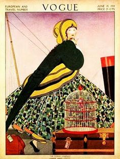 1922 Helen Dryden (American artist, 1887-1981)  Although largely forgotten today, Helen Dryden was credited in 1925—the year of the Paris Exposition from which the term Art Deco draws its name—with having developed & popularized what is now referred to as Art Deco fashion drawing some 17 years earlier.