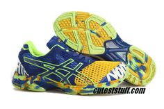 Asics Gel Noosa Tri 7 Mens Yellow Navy Blue Volt $57.96
