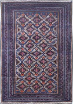Very beautiful handmade/hand-knotted Navy Blue Baluchi from Afghanistan