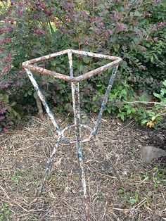 small iron plant stand