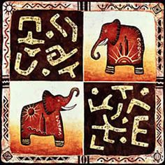 African art -Elephants