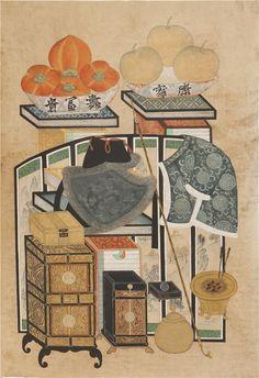 Korean Painting, Object Drawing, Korean Art, Skateboard Art, 18th Century, Illusions, Folk Art, Vintage World Maps, Oriental