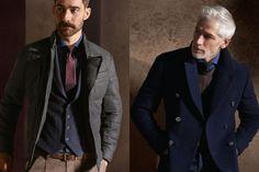 -Marl tailored puffer -Double Breasted Tailored Coat Brunello Cucinelli Autumn/Winter 2014 Men's Lookbook   FashionBeans.com