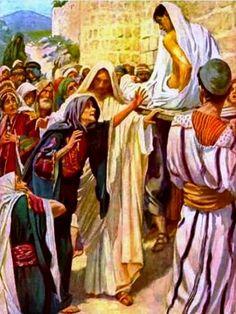 Jesucristo resucita al hijo de una viuda de Naín (Luc. 7:11-17). Jesús derrama su misericordia en nosotros, se acerca y nos dice -¡Levántate!- JRta