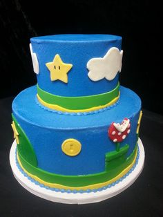 Cookie Jar Bakeshop I Custom Cakes I Birthday Cake I Blue Sky Themed Birthday Cake I Juvenile Birthday Cake