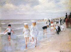 Liebermann, Max: Am Strande. Strand in Scheveningen