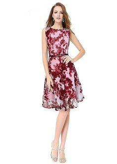 be4cee4415 PURVAJA Women s Georgette Western Wear Skater Dress  Amazon.in  Clothing    Accessories