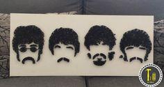 Cuadro The Beatles en hilo #lahileria #thebeatles #beatles #hilo #arte #decoracion #Hogar #fans #decor #art #home #string art #hilorama #mexico