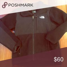 North Face Black Denali Fleece Jacket Coat Size medium women's  Black Good preowned condition  Jacket has been washed so not as soft as when new The North Face Jackets & Coats