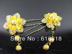 Find More Information about Delicate Ancient Jewelry Princess Gold Flower Hair Stick,High Quality stick baits,China stick pole Suppliers, Cheap flower footwear from Rita's Chinese Style One-stop Shop on Aliexpress.com