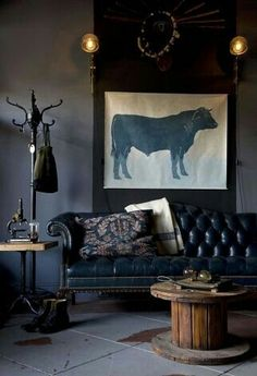 This #vintage #interior has a very masculine feel about it