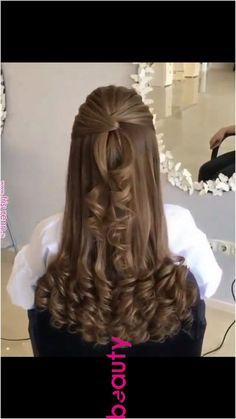 Thick wavy hair styles medium 20 ideas for 2020 Front Hair Styles, Curly Hair Styles, Hair Front, Bride Hairstyles, Trendy Hairstyles, Wavy Hairstyles Tutorial, Wavy Haircuts, Hair Cuts, Hair Beauty