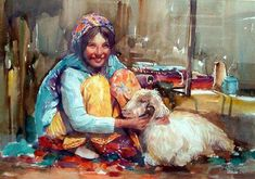 Egyptian Art, Artsy Fartsy, Painting Frames, Oriental, African, Gallery, Middle East, Aqua, Draw