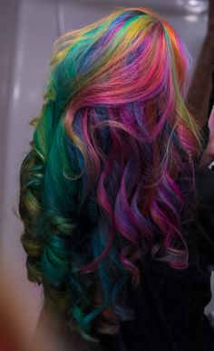 Rainbow Jewel Hair by lizzys-photos