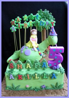 Girl's Dinosaur Birthday Cake