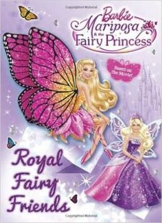 Barbie: Mariposa and the Fairy Princess: Royal Family Friends! Girls ages 3–7 will love this 96-page deluxe coloring and #activitybook with glitter cover, based on the latest #Barbie direct-to-DVD movie releasing on DVD and Blu-ray in fall 2013.