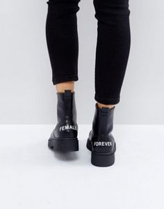 ASOS AZRA Chunky Zip Front Ankle Boots