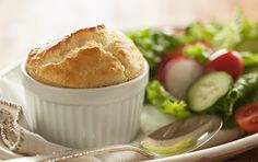 The bold flavor of Champagne Cheddar cheese makes these soufflés a delicious savory treat. Enjoy with Champagne cocktails and a lightly dressed green salad for a celebratory brunch.