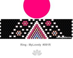 peyote pattern,PDF-Download, #091R, peyote ring beading pattern, beading tutorials, ring pattern