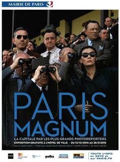 Demain s'ouvre au public l'exposition Paris Magnum à l'Hôtel de Ville de Paris. Une présentation très attendue d'une vingtaine de grands photographes du XXème siècle (René Burri, Elliott Erwitt, Raymond Depardon, Martin Parr, Abbas, Robert Capa ...) qui ont parcouru les ru