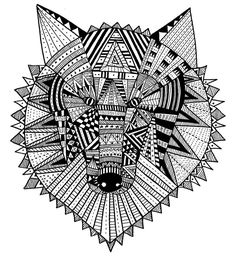 Intricate Coloring Pages For Adults | Bri Anda Dibujando: My Work More