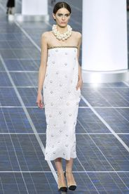Chanel Spring/Summer 2013|7!!! Bebe'!!! White on White Chanel evening gown!!!