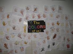 "Lesson using Karen Katz book ""The Colors of Us"""