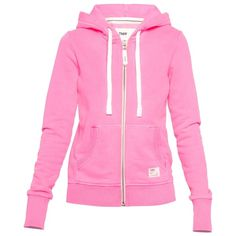 TNA Houston Premium Fleece Zip-Up Hoodie featuring polyvore, women's fashion, clothing, tops, hoodies, jackets, outerwear, sweaters, women, hooded pullover, pink zip up hoodies, fleece zip up hoodies, fleece hoodie and zip up hoodie