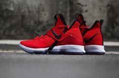 University Red Drapes The Latest Nike LeBron 14
