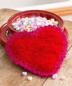 Valentine Scrubby Free Crochet Pattern in Red Heart Scrubby Yarn