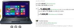 "Notebook Samsung Ativ Book 3 Np370e4k-Kd3br Preto Intel Core i3-5005U 4Gb HD 1Tb 14"" << 128186 >>"