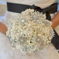 Fascinated by Brooch Bouquets.  Here are step-by-step instructions for making your own brooch bouquet: