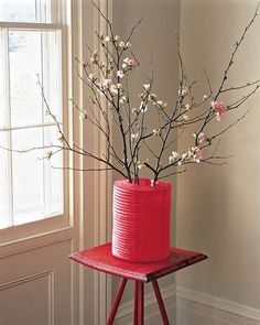 Colorful Paper Vase Cover (using a paper lantern)