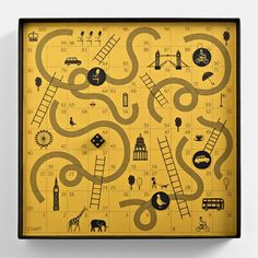 Snakes and Ladders || Together Design || http://www.perfectlyputtogether.co.uk/: