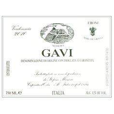 """""""Little hints of peach, white flower, and sugar cane on the nose. The palate shows crisp and clean, lively flavors. Refreshing and dry with a nice complex pear and white melon. Solid Gavi... I like this, and most of you will too."""" $13"""