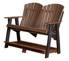 Heritage Double High Poly Lumber Adirondack Bench by Little Cottage Company