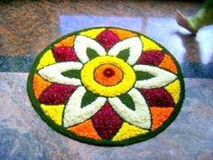 Rangoli designs & patterns don't always have to be intricate & difficult. Here are the top simple & small rangoli designs for Diwali at home for beginners. Indian Rangoli Designs, Rangoli Designs Flower, Small Rangoli Design, Colorful Rangoli Designs, Rangoli Designs Images, Rangoli Ideas, Beautiful Rangoli Designs, Rangoli With Flowers, Flower Designs