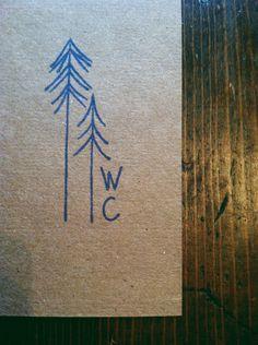 Custom Stamp Pine Tree Decorative Stamp. $21.50, via Etsy.
