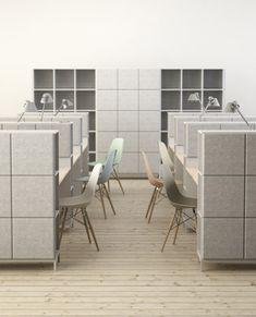 Johan Kauppi and Bertil Harström launch sound-absorbing office furniture for Glimakra Corporate Office Design, Modern Office Design, Office Furniture Design, Workspace Design, Office Workspace, Office Interior Design, Office Interiors, Office Spaces, Business Design
