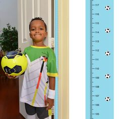 New PeekaBoo [Soccer] Growth Chart: Track and Measure Height *centimeter units* by MomApproved on Etsy