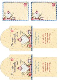 6 Free Printable Pages Zelda De Jager Tea Bag Envelopes