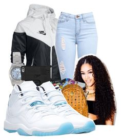 """School Tmrrw"" by shamyadanyel ❤ liked on Polyvore featuring NIKE and Rolex"