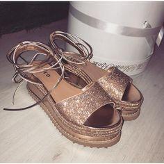67e5382c7cd3ce ZOE ROSE GOLD LACE UP ESPADRILLE FLATFORMS – Envy Shoes UK Shoes Uk